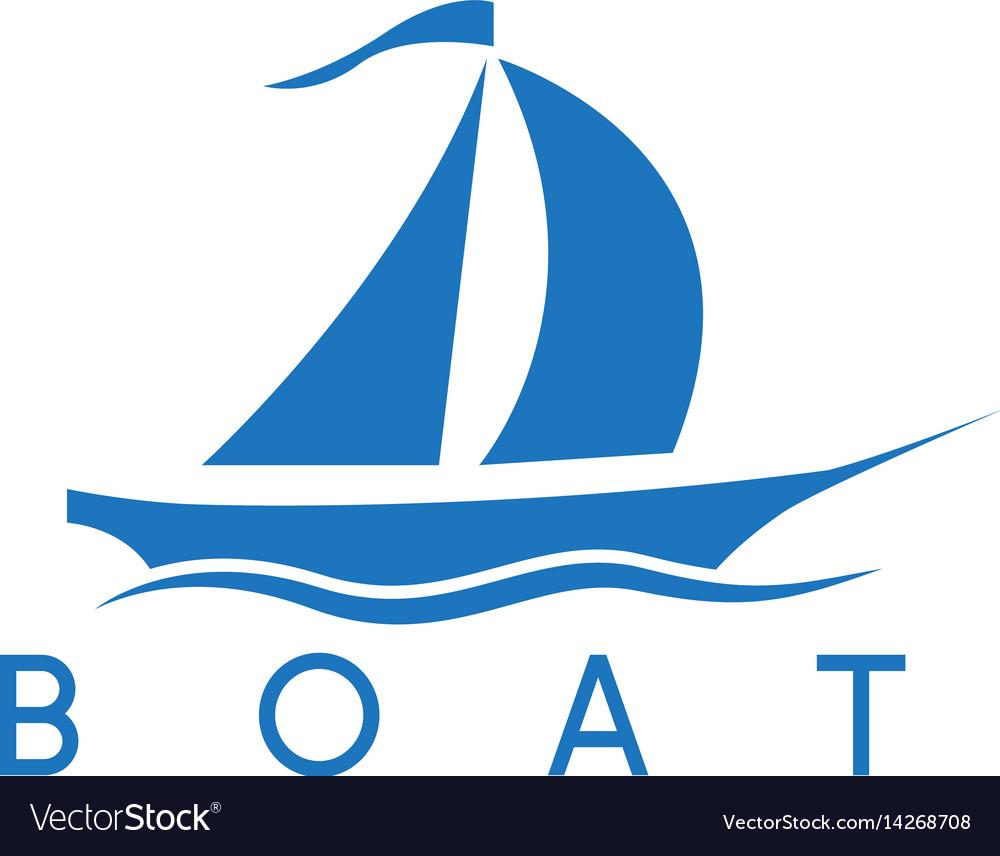 Abstract sail ship icon design template vector image
