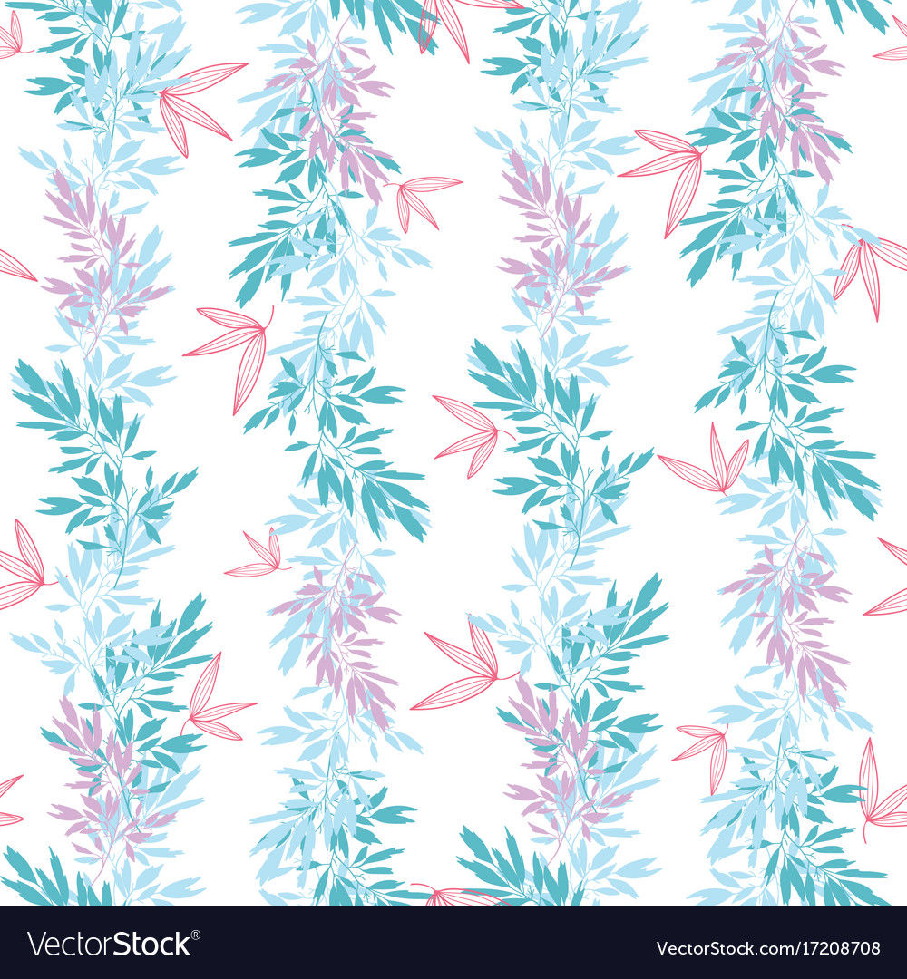 Blue pink tropical leaves summer vertical