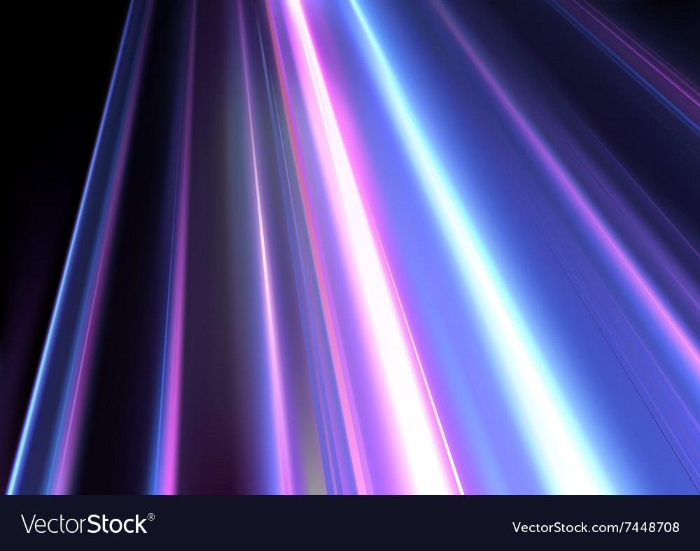 Colored Light beams vector image