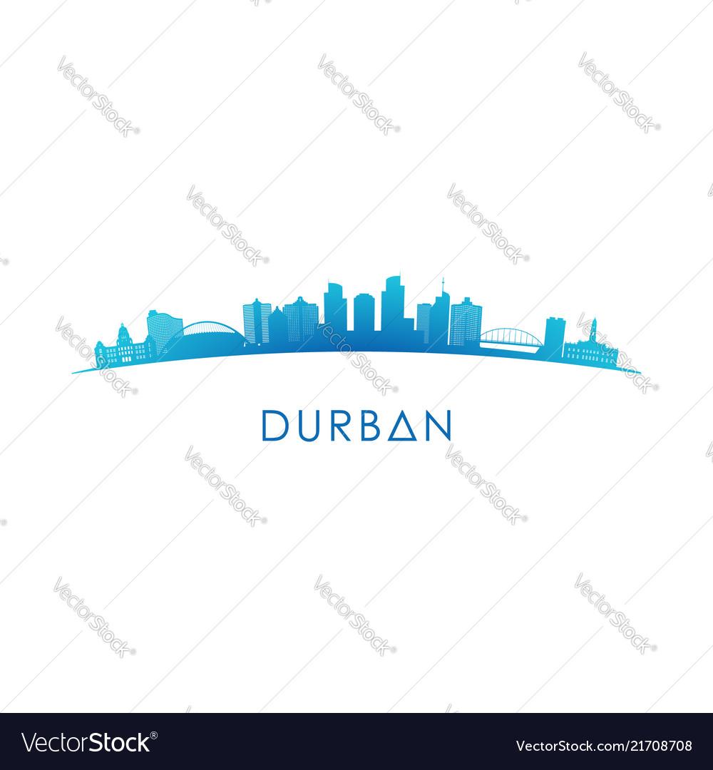Durban skyline silhouette design colorful