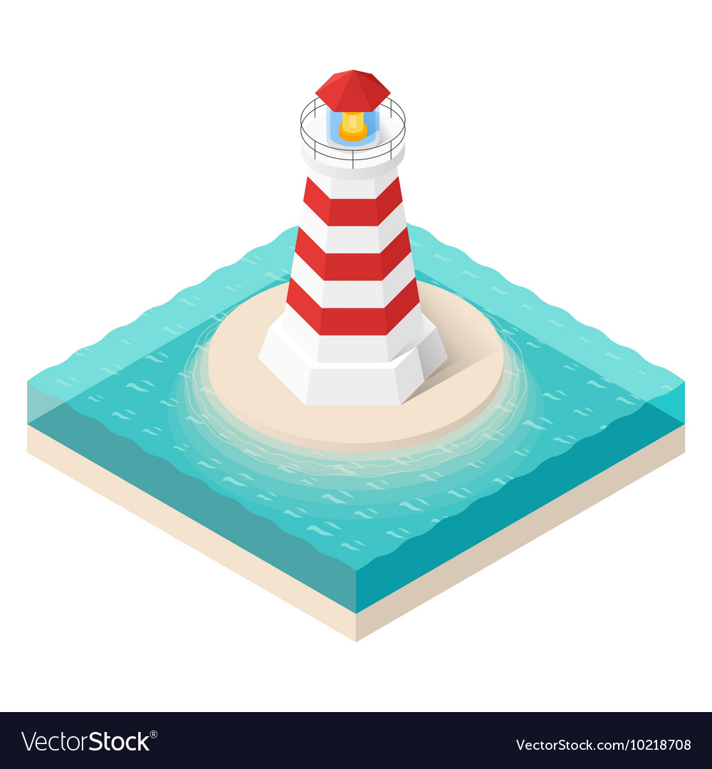 Isometric lighthouse