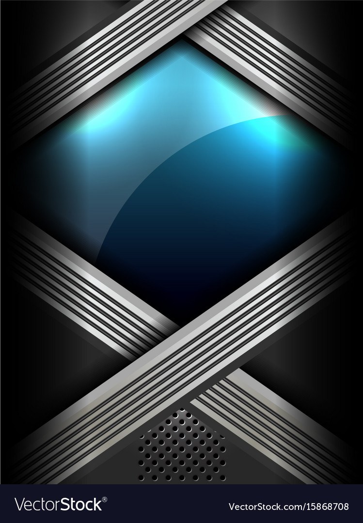 Metallic abstract modern background vector image