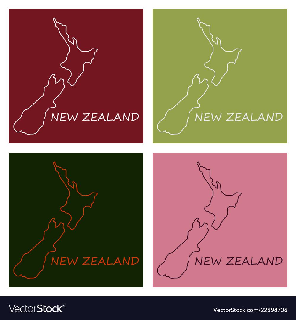 Pop art map of newzealand