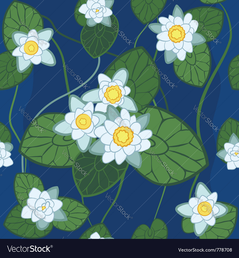 White lotus pattern