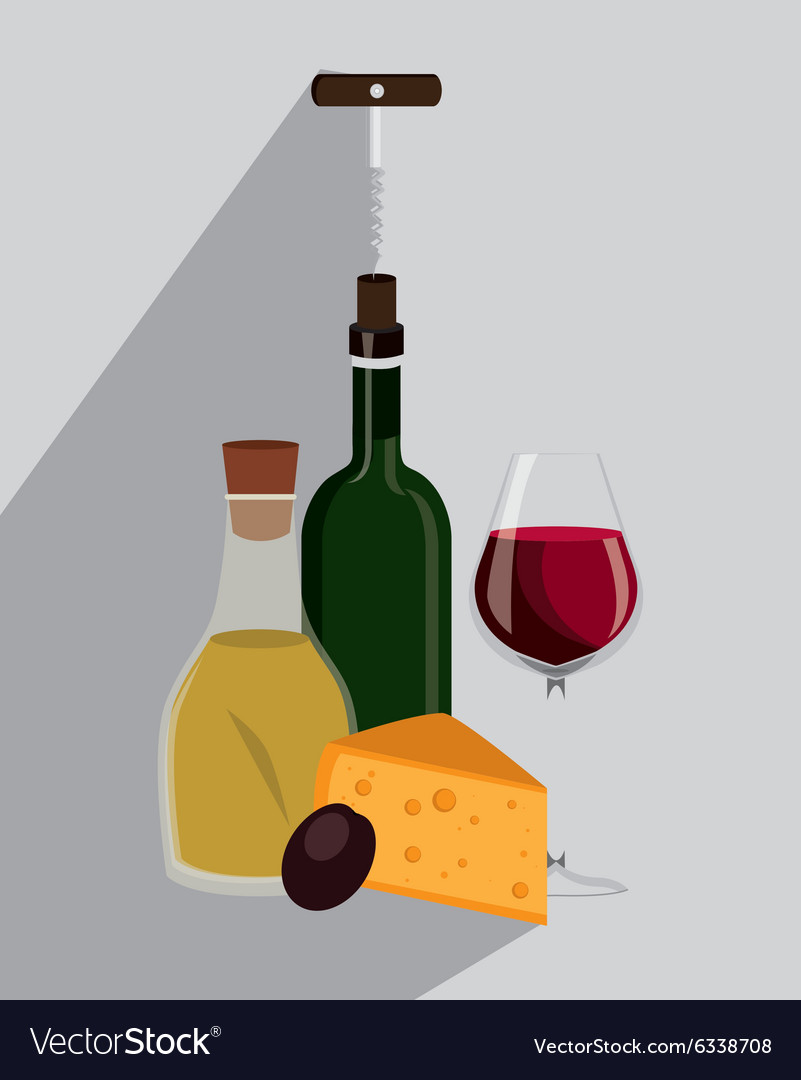 Wine drink graphic design with icons