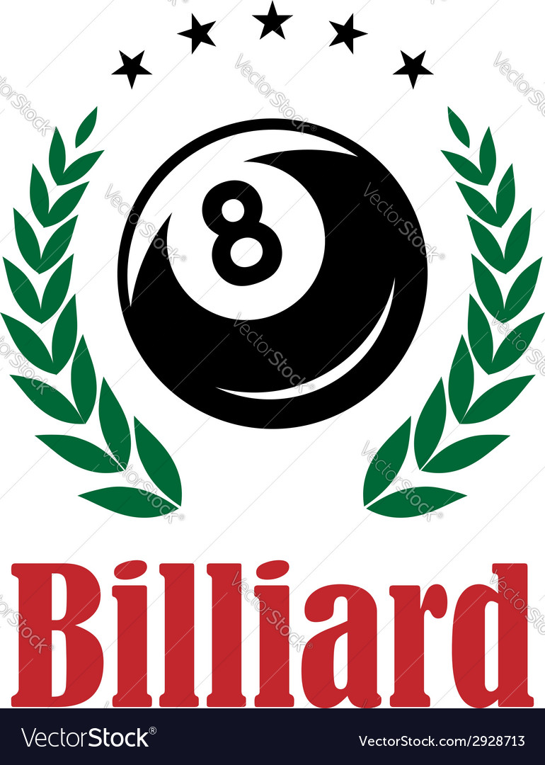 Billiards and snooker emblem