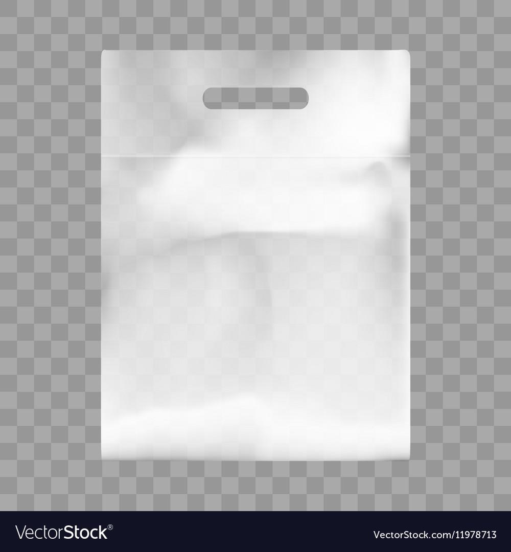 Blank plastic bag mock up empty polyethylene