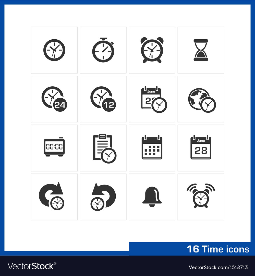 Date and time icons set