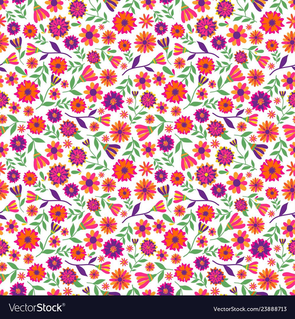 Dia de los muertos seamless pattern with