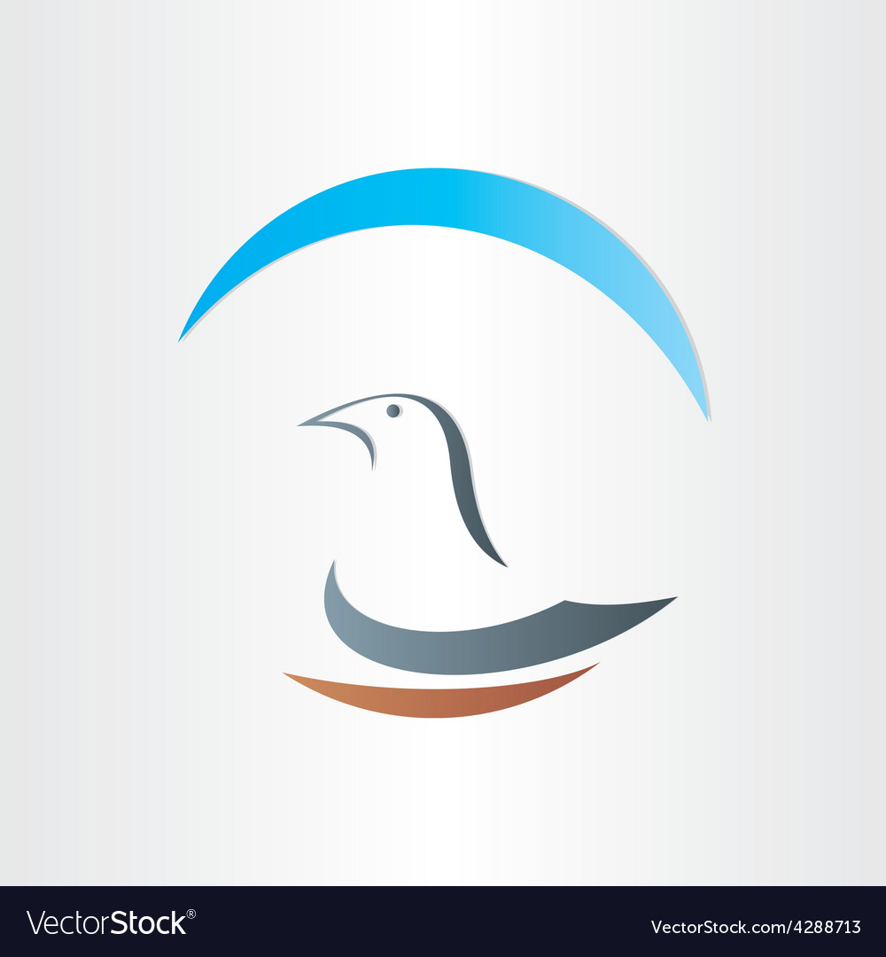 Dove freedom symbol abstract design