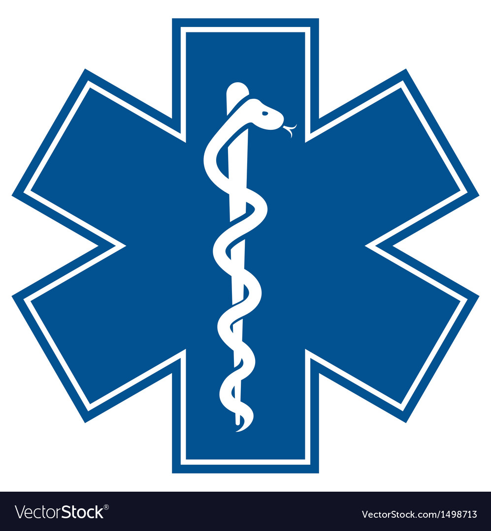 emergency medical symbol royalty free vector image