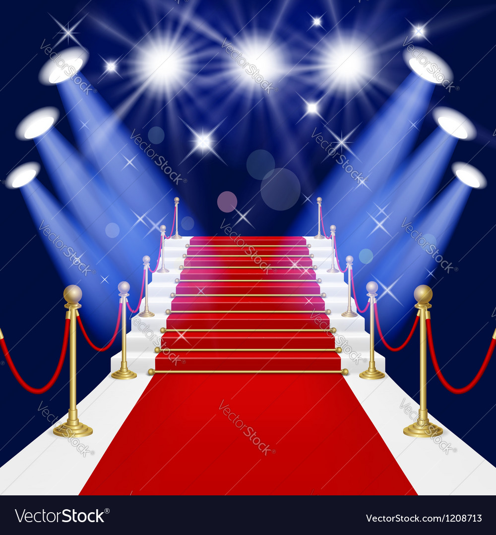 Red carpet with ladder