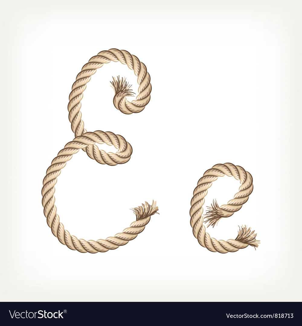 Rope alphabet letter e royalty free vector image rope alphabet letter e vector image thecheapjerseys Choice Image