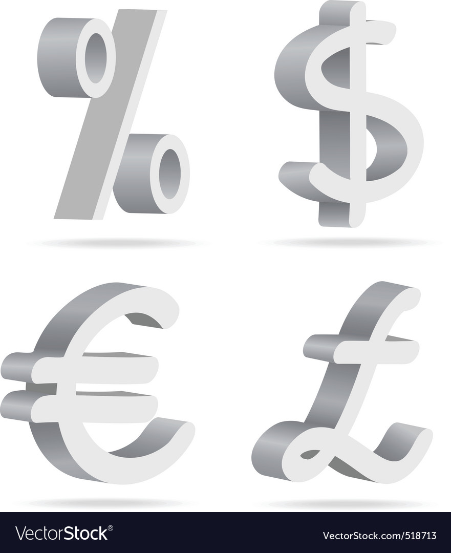 Symbols Of Money Royalty Free Vector Image Vectorstock