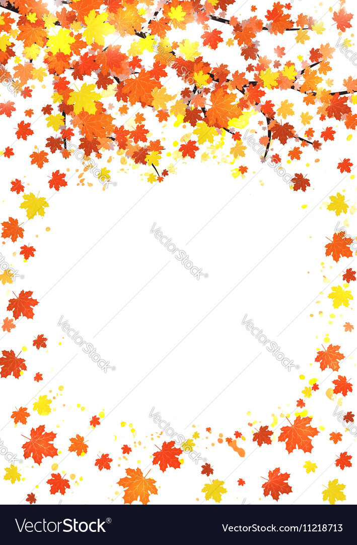 Vertical Autumn Banner Template With Blank Space