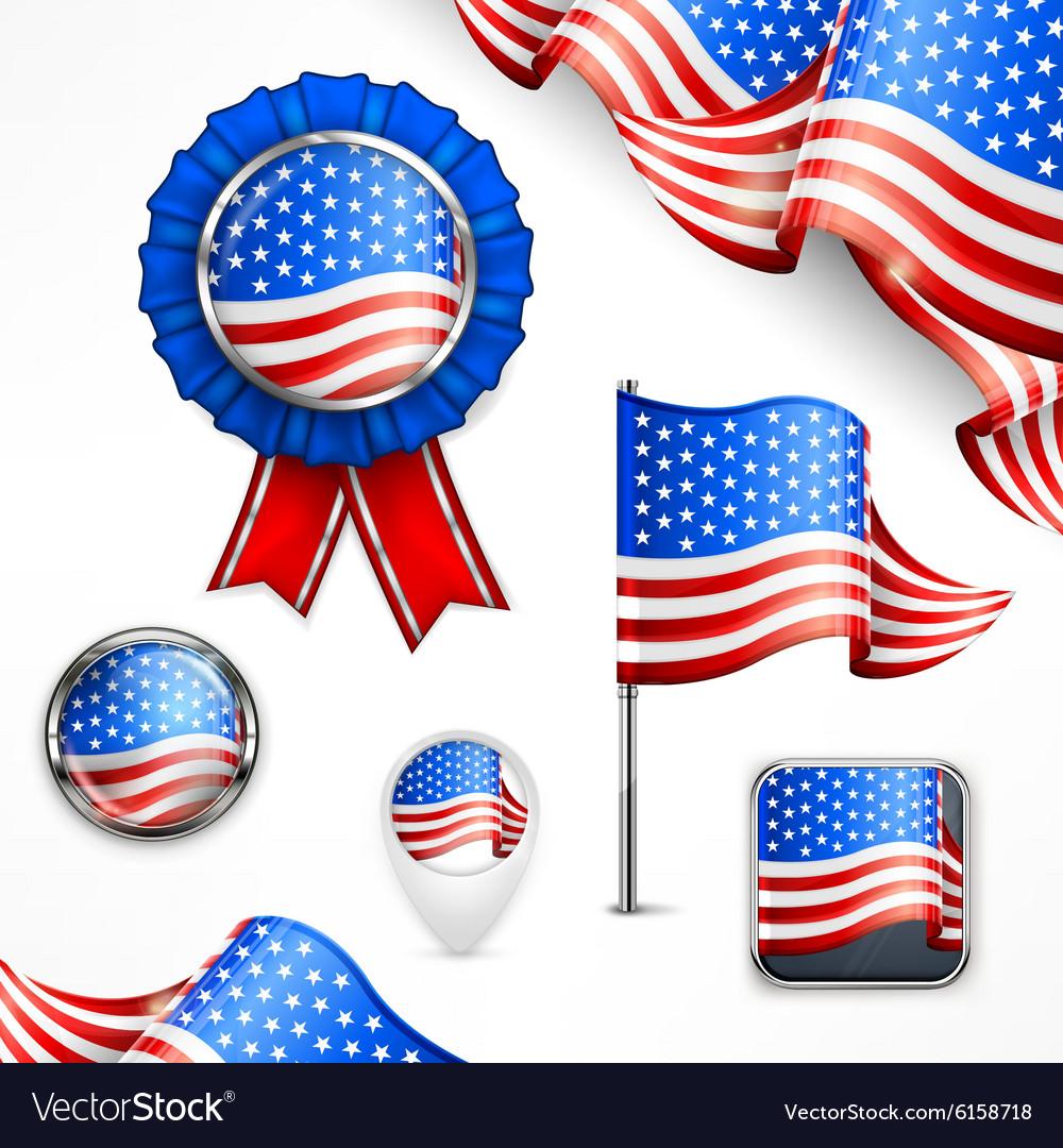 American National Symbols Royalty Free Vector Image