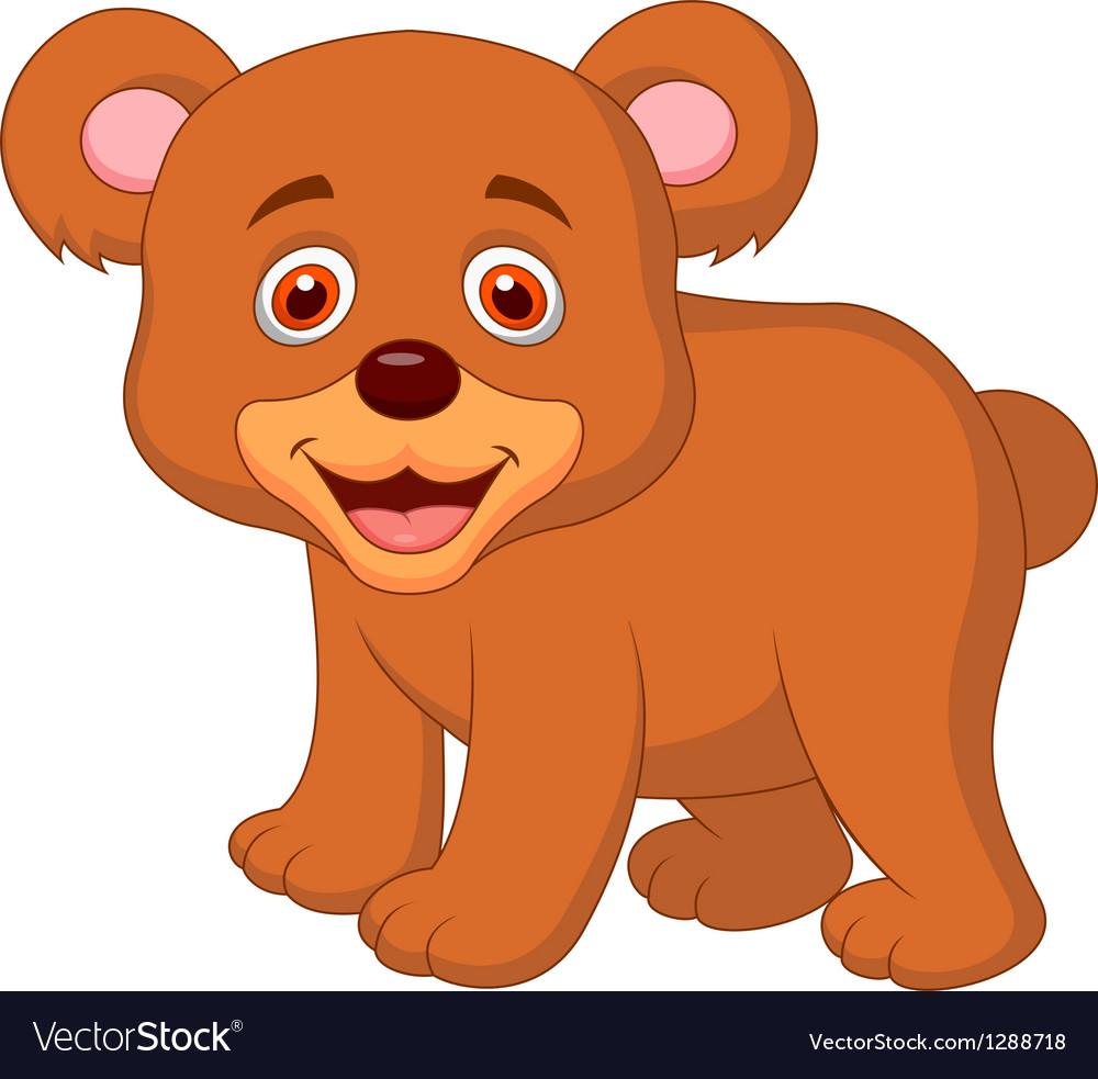 Cute baby bear cartoon Royalty Free Vector Image
