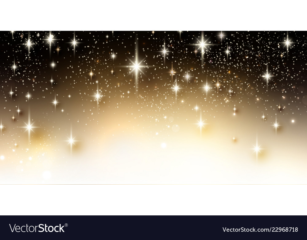 Elegant starry christmas background with place for