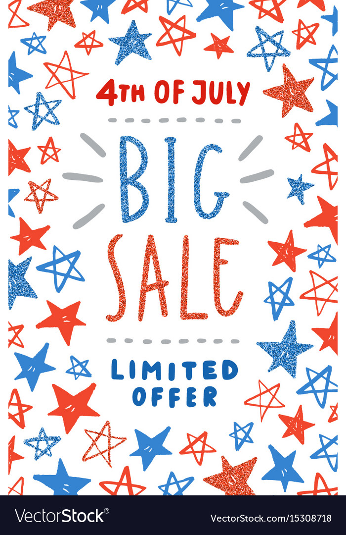Fourth of july sale poster design