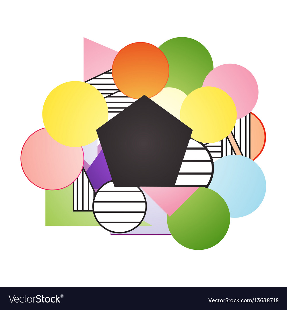 Geometric multicolor background with place for