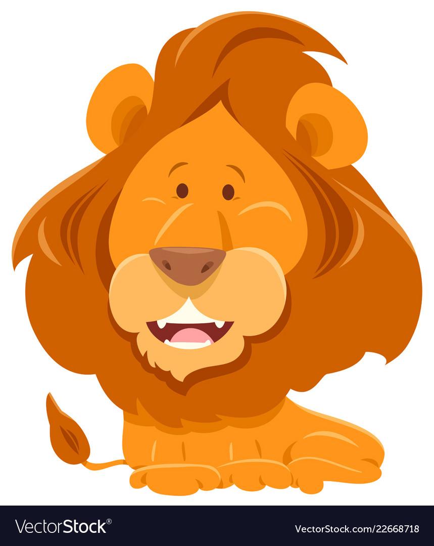 Lion cartoon funny animal character