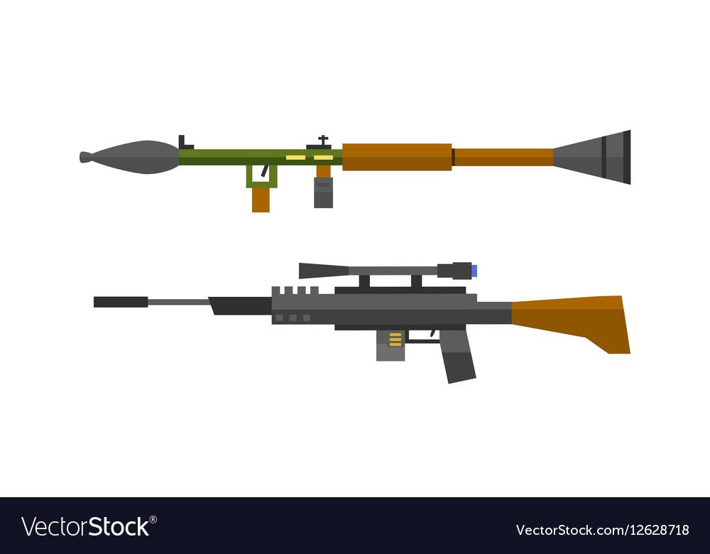 Machine gun sniper rifle set