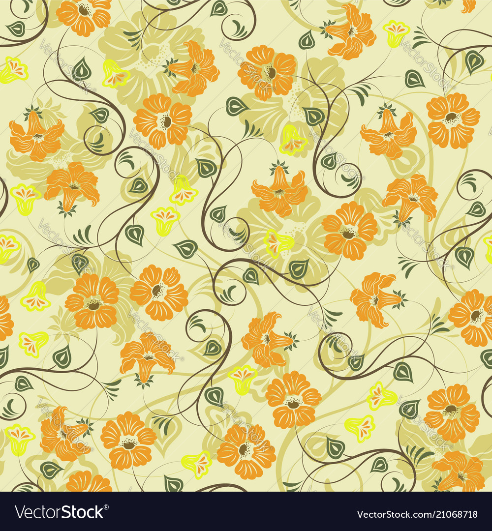 Sweet floral seamless pattern backgroundromantic
