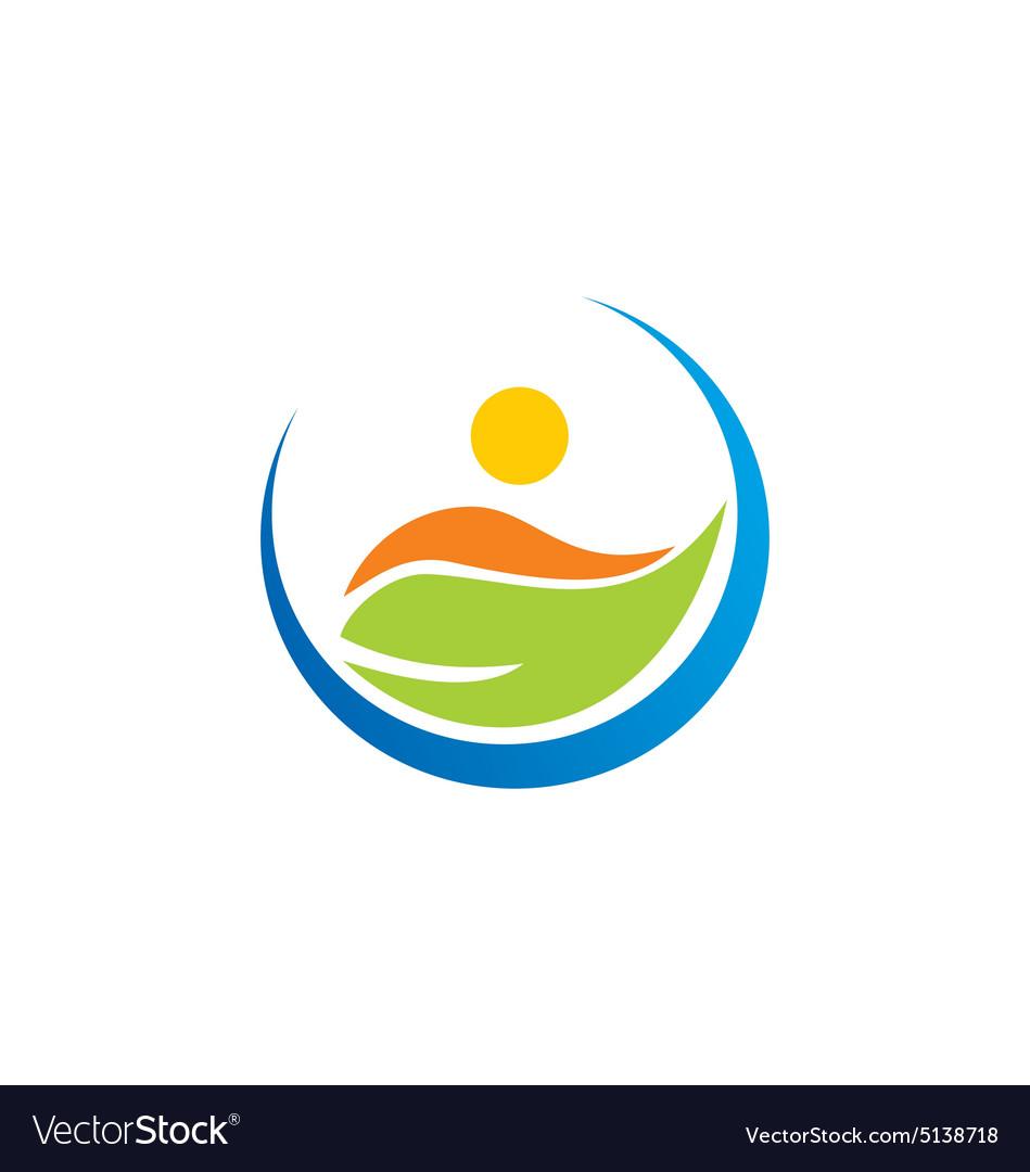 Vegetarian leaf people logo