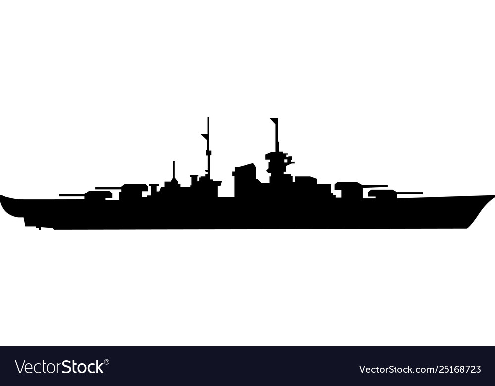 Battleship eps vector