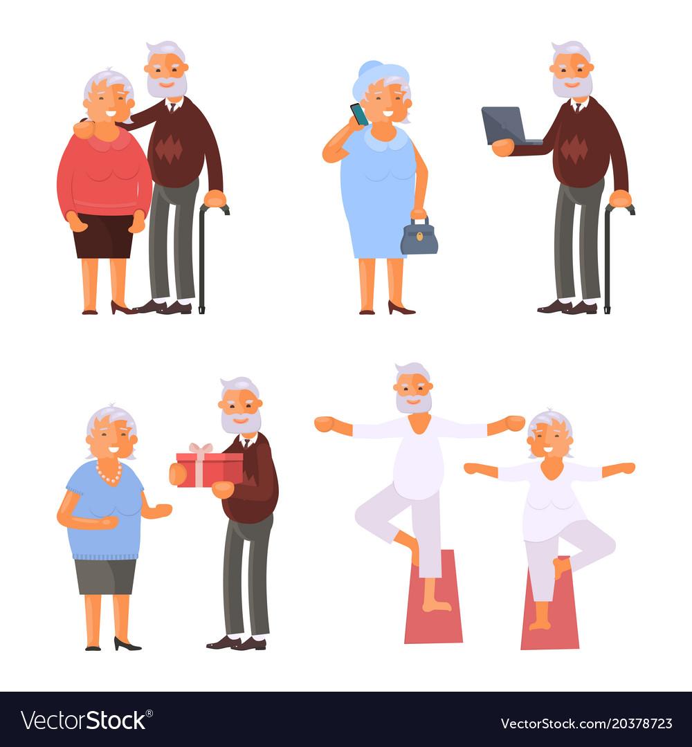 Elderly people characters