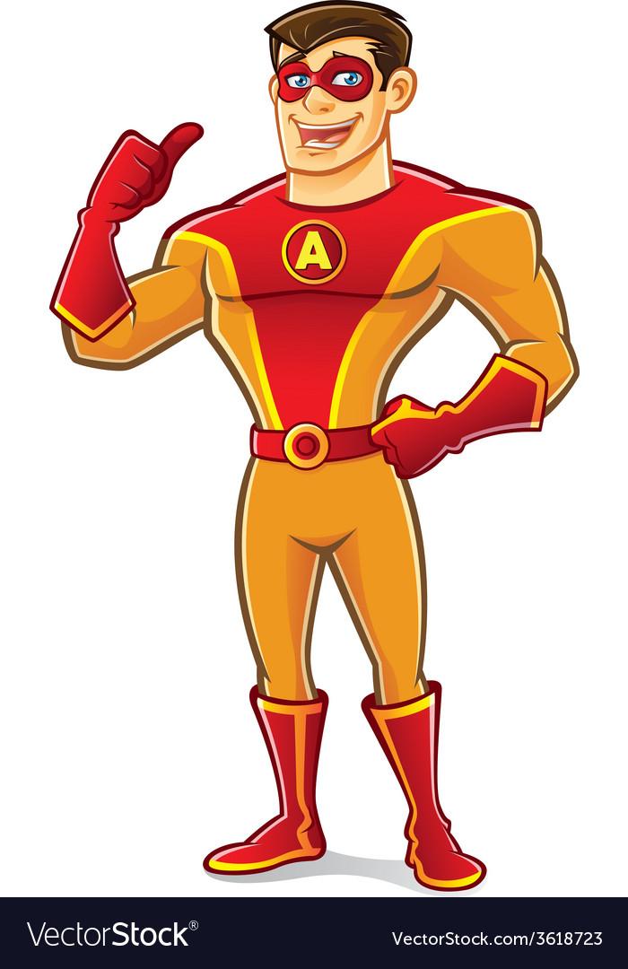Handsome Superhero Thumb Up