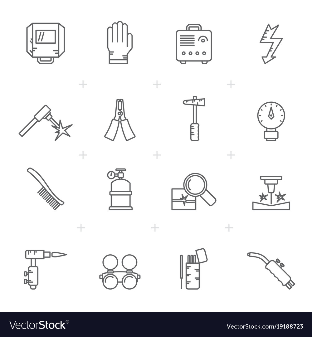 line welding and construction tools icons vector imageWelding Tools Diagram #21