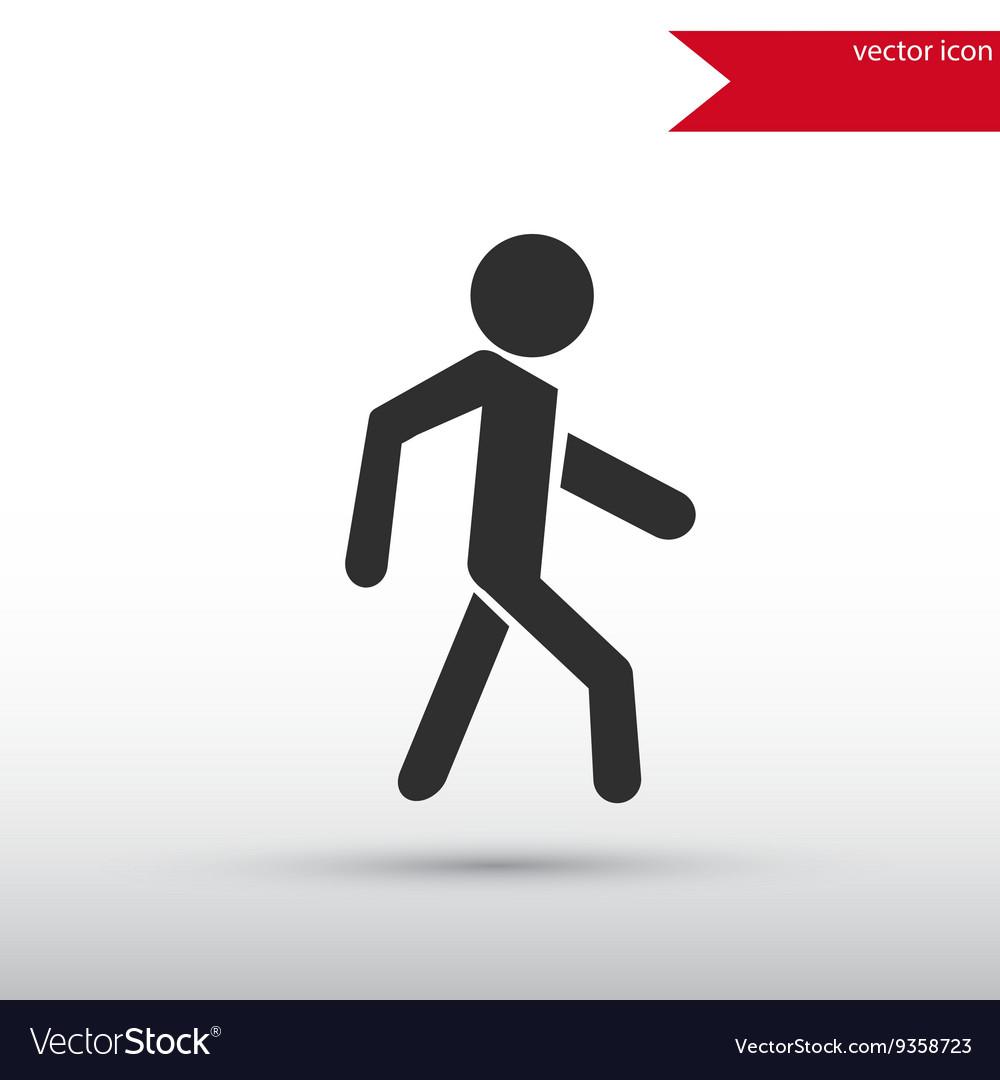 Man icon Pedestrian symbol vector image