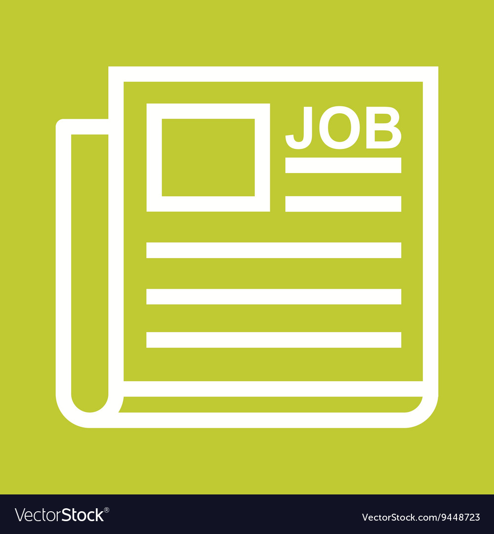 Newspaper Job Ad Vector Image