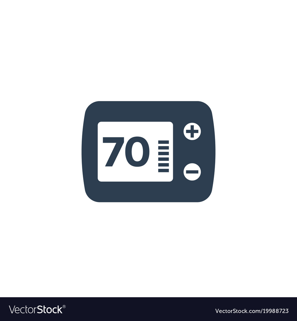 thermostat icon isolated on white royalty free vector image