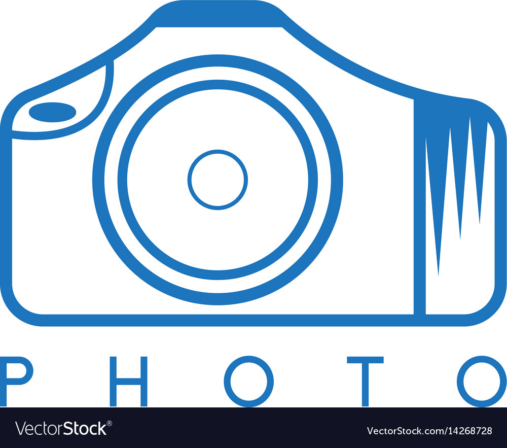Abstract icon design template of photo camera