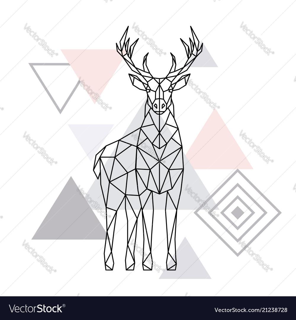 Abstract polygonal deer geometric hipster