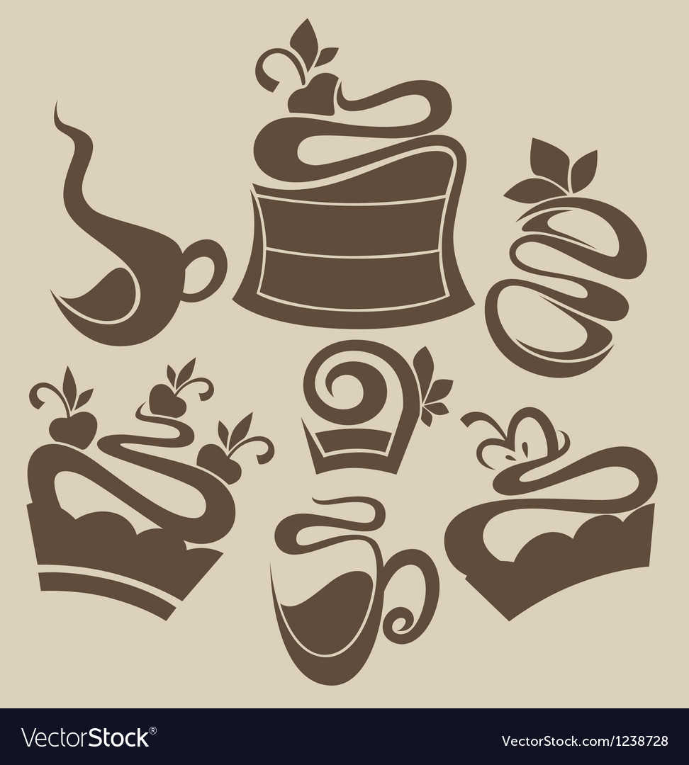 Cakes and sweets silhouettes