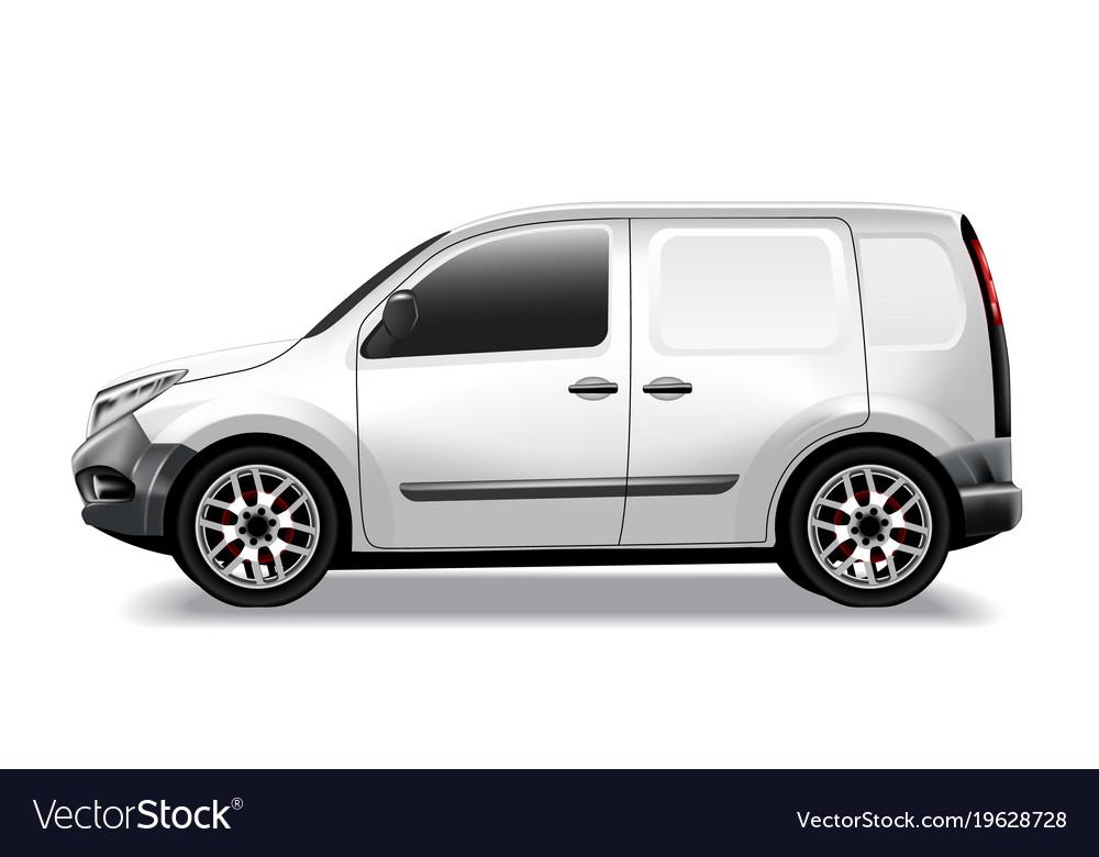 Commercial car delivery cargo van mockup vector image