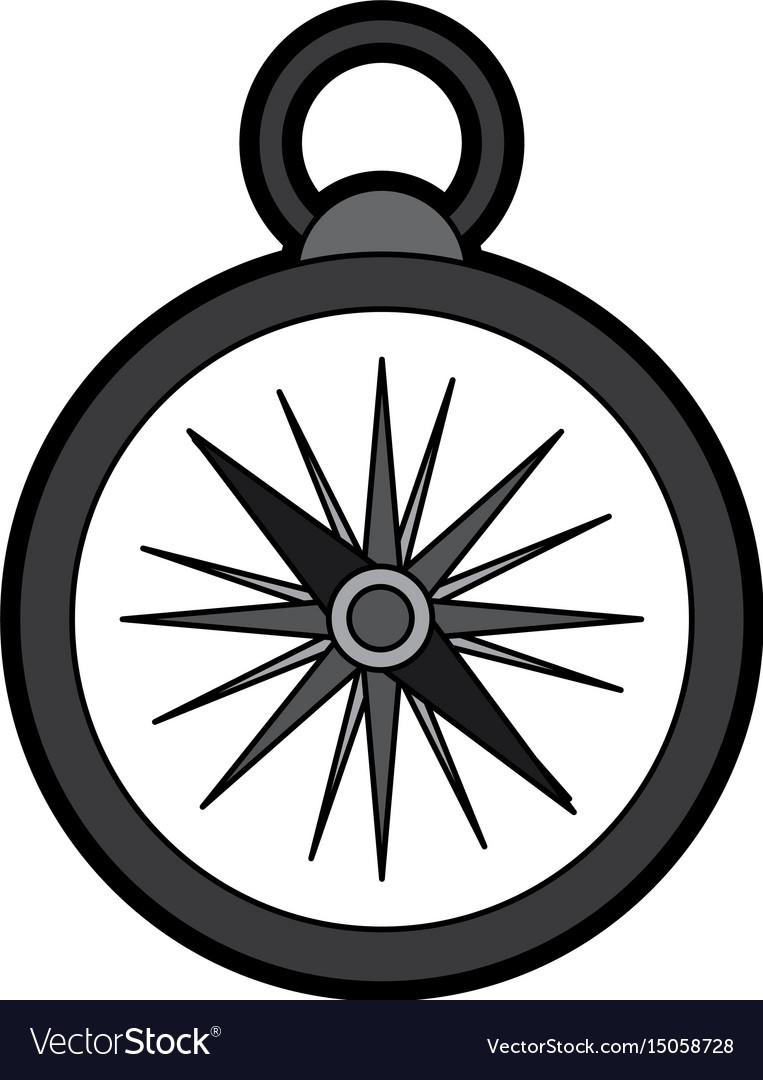 Flat compass cartoon