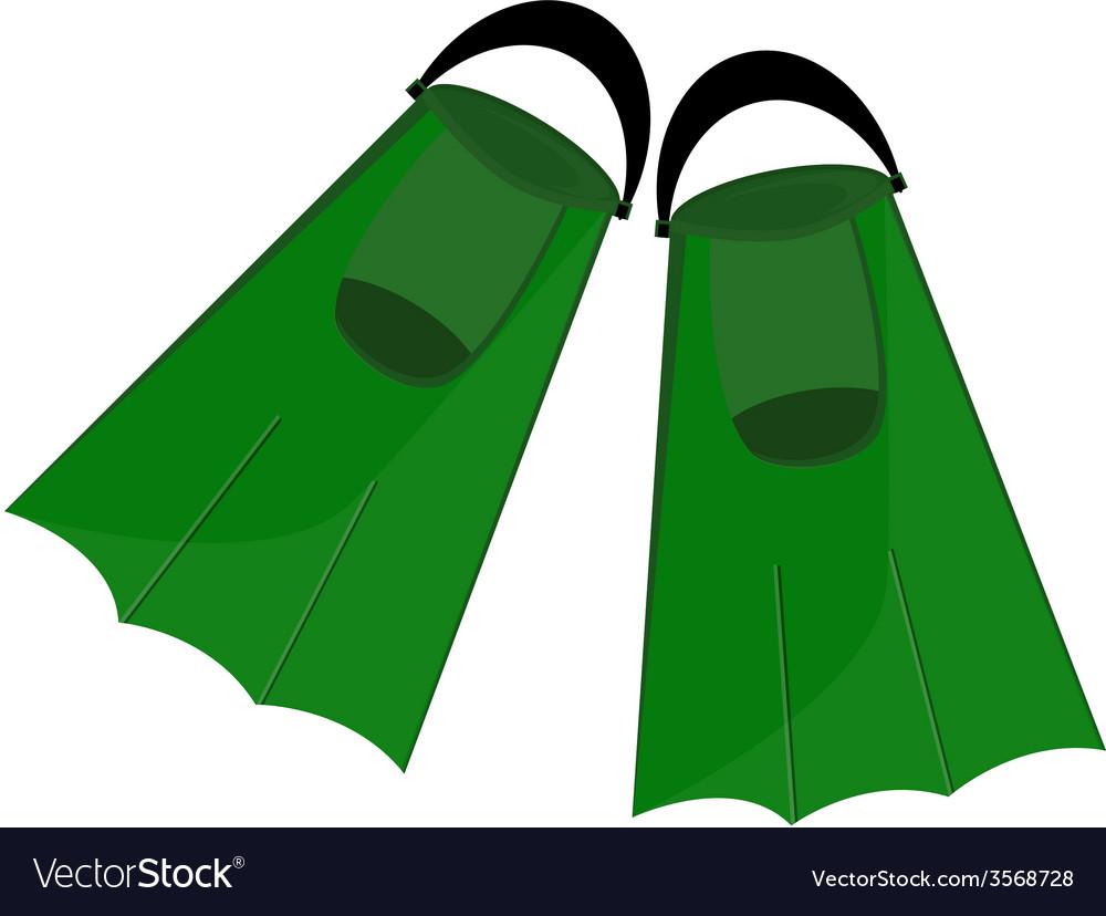 Green flippers vector image