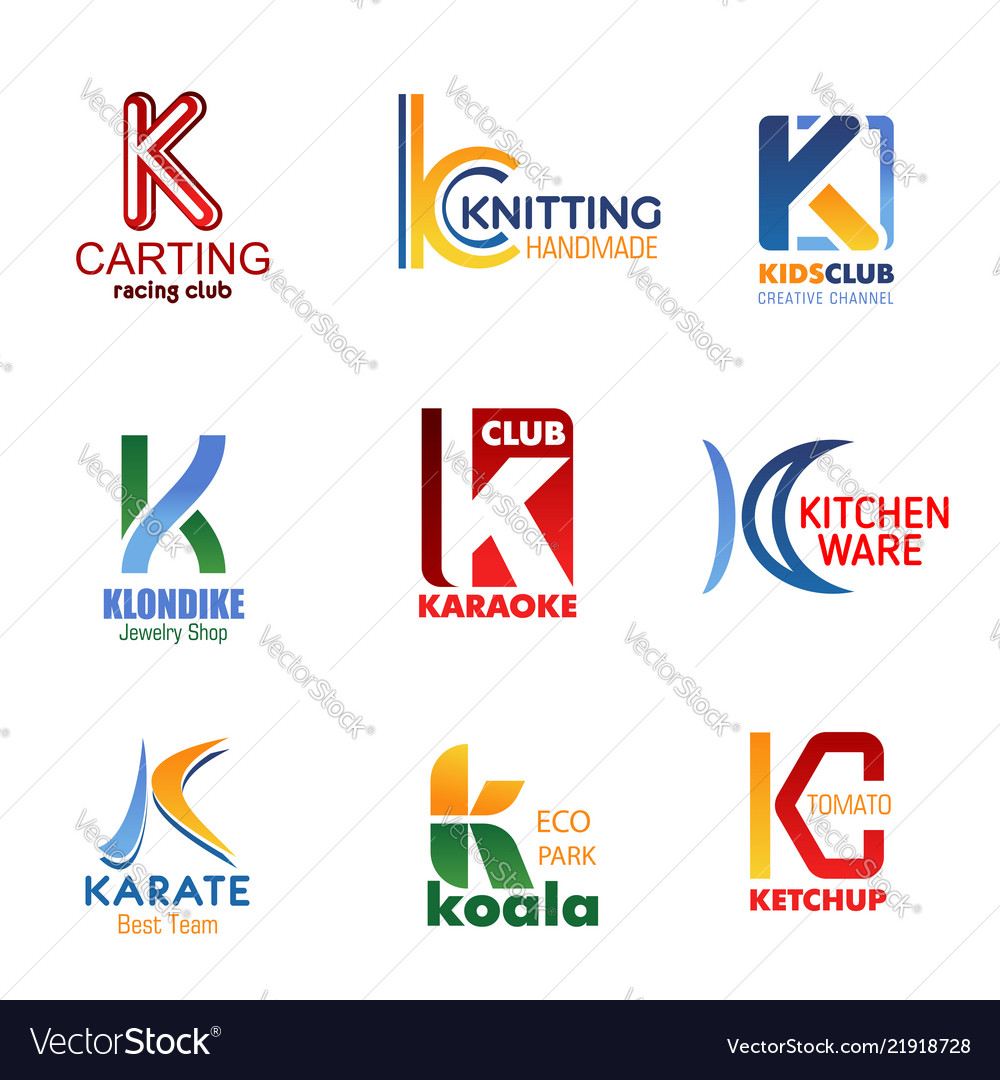 Letter k for company and business identity
