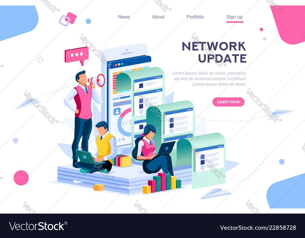 Network update concept for homepage