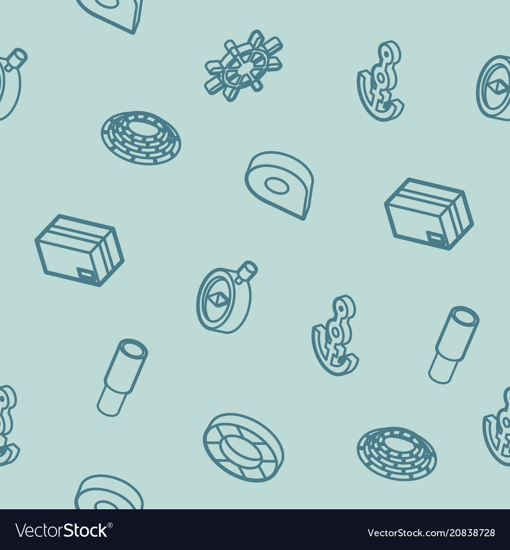 Seaport outline isometric pattern