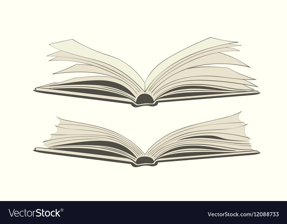 Drawing an open book