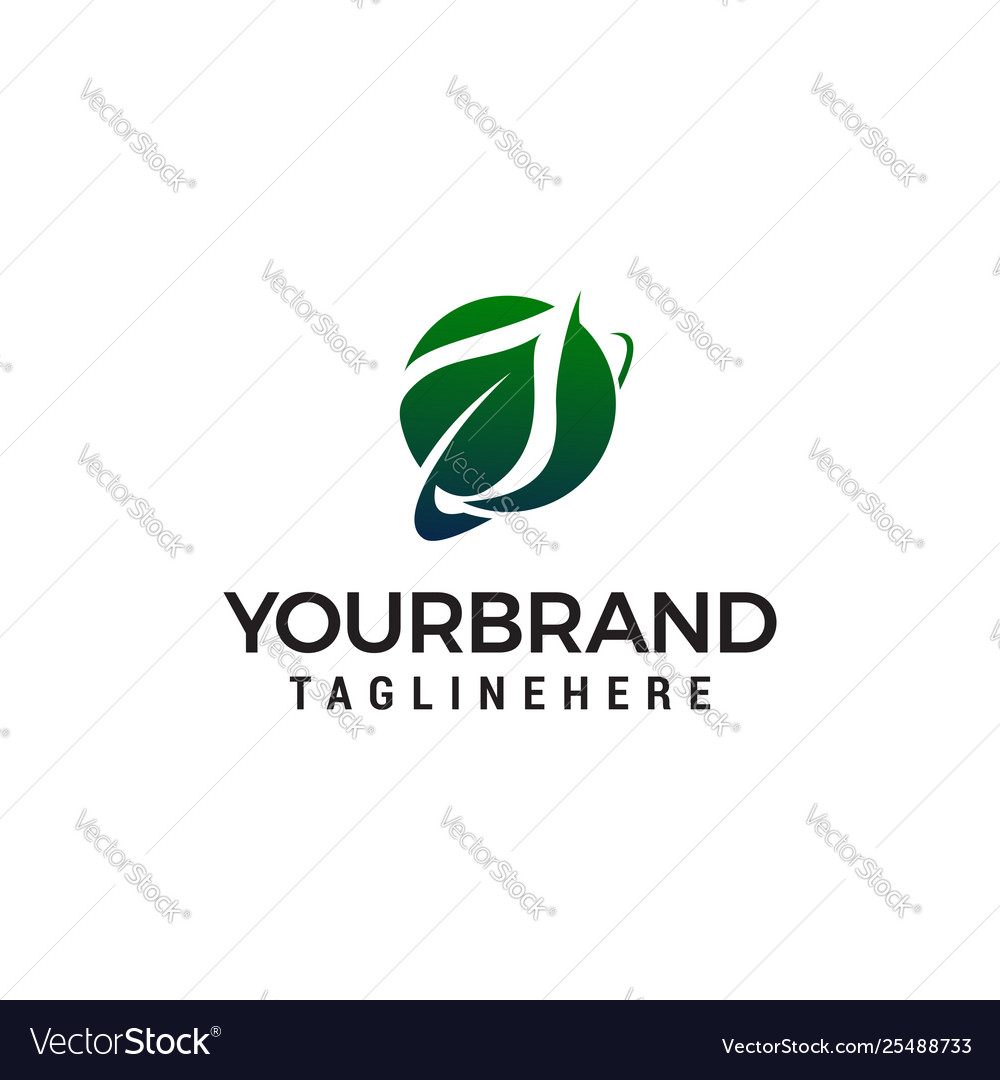Leaf logo design concept template
