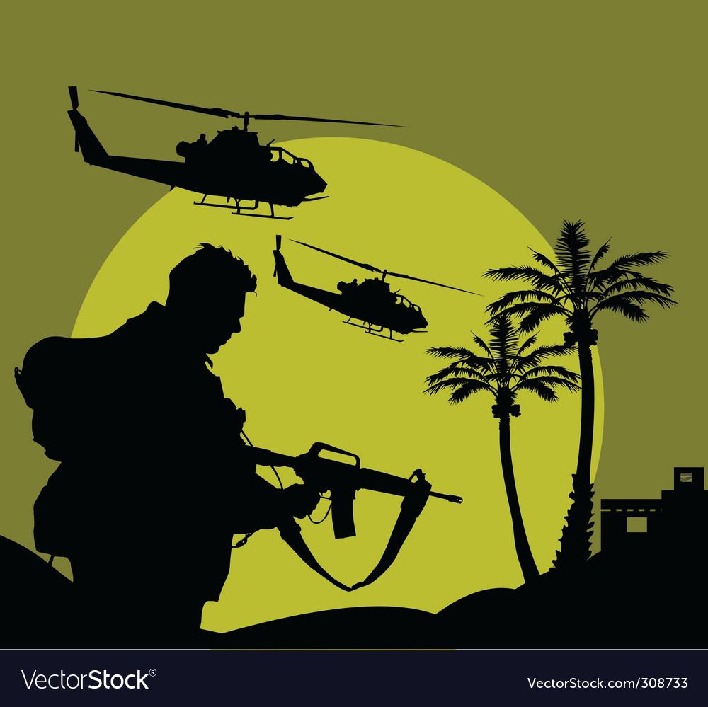 Night flight vector image