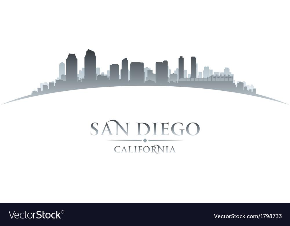 San Diego California city skyline silhouette vector image