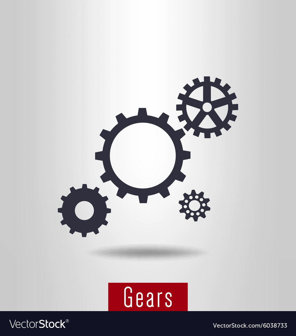 Set of gear icon vector image