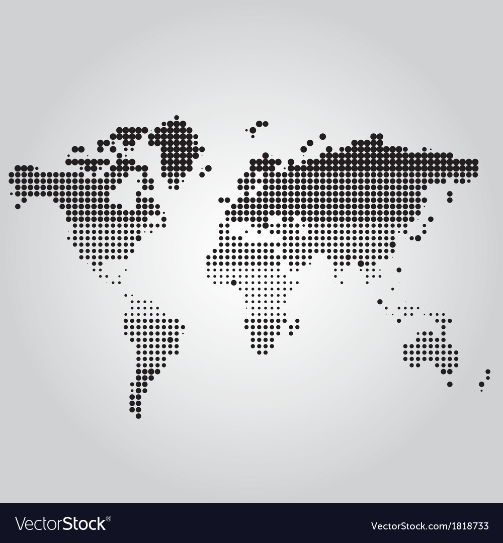 World Map with dots of different sizes